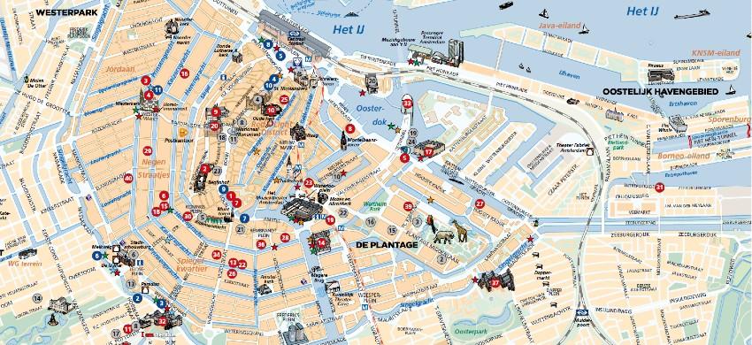 Cartina Amsterdam.Mappa Di Amsterdam Cartina Interattiva E Download Mappe In Pdf Amsterdam Net